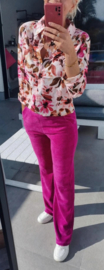 VIOLETTA flowered shirt