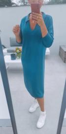 STELLA knit collar dress teal