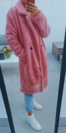 PILLI soft teddy coat pink