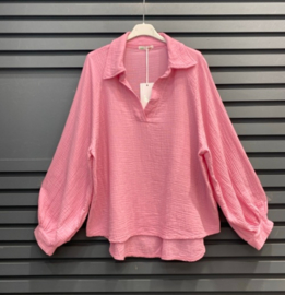 NAPOLI tetra blouse candy pink
