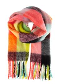 COLOURFUL AUTUMN scarf fuschia