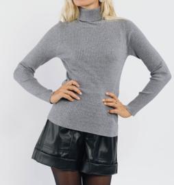 CLAIRE basic turtleneck sweater grey