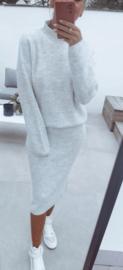 BILLIE knit set soft mêlée grey