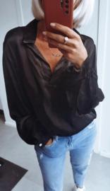 NAPOLI satin blouse black