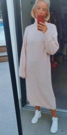 MILOU knit turtleneck sweaterdress soft pink