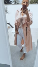 FRANCA summer version trench coat pink