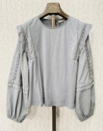 LOULOU cotton blouse soft grey