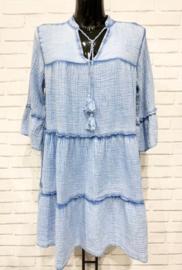 DORDOGNE tetra dress blue