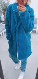 NOLA teddy coat teal