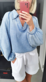 NAPOLI tetra blouse jeans blue
