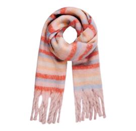 STRIPE ME UP scarf pink