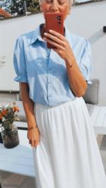 KIARA cotton shirt embroidered blue