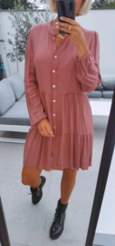 STEFFI viscose dress old pink
