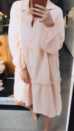 VALENTINA midi tetra dress peachy pink