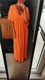 KATE viscose maxi dress orange