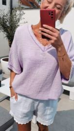 MADELINE tetra blouse lilac