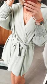 MEGAN Beach wrap dress / kimono green