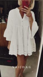 AVIGNON short tetra dress white