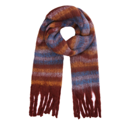 STRIPE ME UP scarf brown