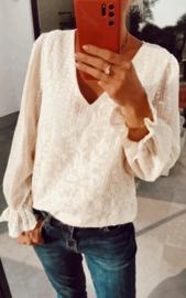 ANNELIEN romantic blouse ecru