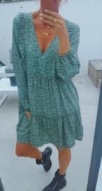 LAETITIA flower dress green