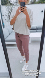 POLLY straight cropped jeans soft aubergine