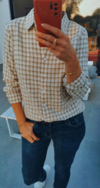 CARO checkered shirt soft green