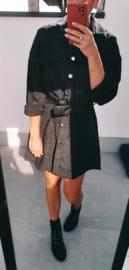 VALETTA velours shirt dress black