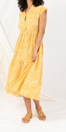 ZIZI zebra maxi dress yellow