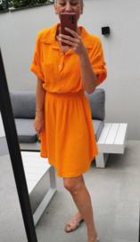 SCARLETT tetra dress orange