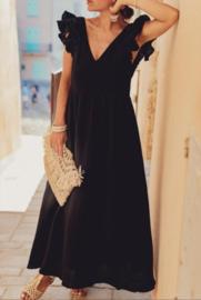 NANTES maxi tetra dress black