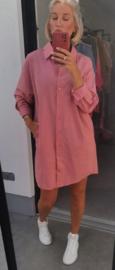 FAYE shirt dress pink