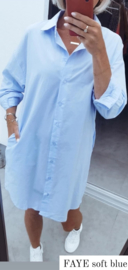 FAYE shirt dress soft blue