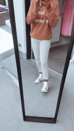 DREW mom fit jeans beige