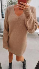 PHILLI sweater dress camel
