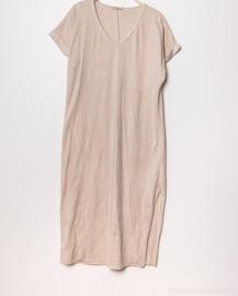 LUCINNE loose tee dress beige
