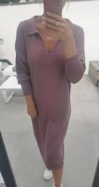 STELLA knit collar dress old pink
