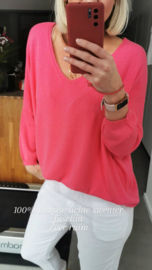 LIZA oversized sweater fuschia