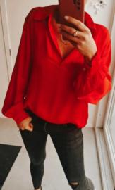 NAPOLI satin blouse red