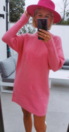 FUNKY knit dress fuschia