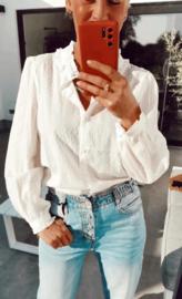 PAISLY cotton blouse white