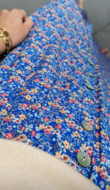FLOWER GARDEN skirt blue