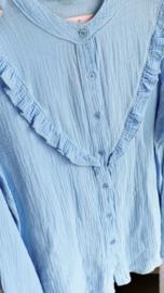 BELLA tetra mao shirt blue