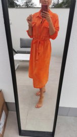 SANTORINI 3 tetra maxi dress flash orange