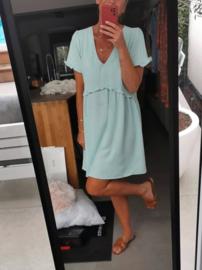 MANUELLE loose dress soft mint