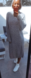 MILOU knit turtleneck sweaterdress grey