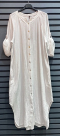 CHRISTINA tetra dress white