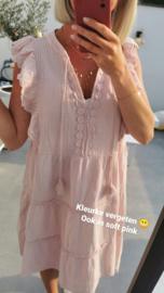 PAPAYA tetra sleeveless frill dress soft pink