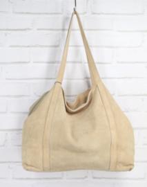 VERONA suede handbag beige