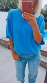 EMMA cotton tee royal blue